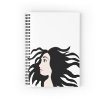 Hair in the Wind Spiral Notebook