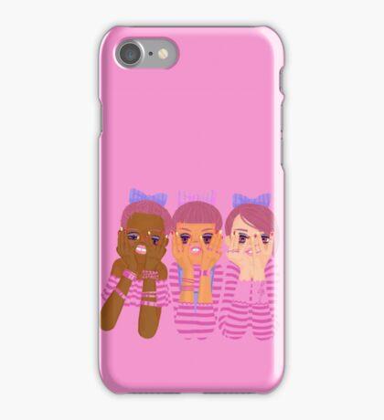 Three girls in pink iPhone Case/Skin