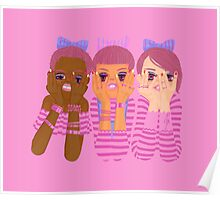 Three girls in pink Poster
