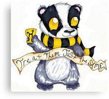 Hufflepuff Badger Canvas Print