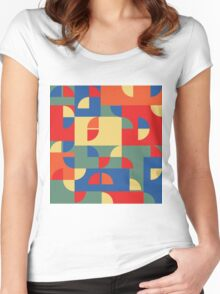 Funky pattern Women's Fitted Scoop T-Shirt