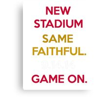 Wear to San Francisco 49ers Levi's Stadium Opening Day! - Kaepernick Willis Canvas Print