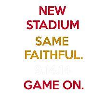 Wear to San Francisco 49ers Levi's Stadium Opening Day! - Kaepernick Willis Photographic Print