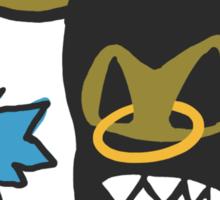 Funny Bull with bird Sticker