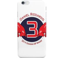 Daniel Ricciardo 2014 Canadian GP winner iPhone Case/Skin