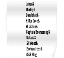 Squad List... Poster