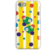 CVAn0083 Splashosaurus Showerensis Funny Critters Red Blue Dots Yellow Stripes  iPhone Case/Skin