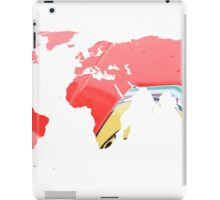World map of Italian Red iPad Case/Skin