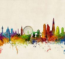 London England Skyline by Michael Tompsett