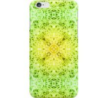 """Spirit of India: Fleur-Web"" in grass green and yellow iPhone Case/Skin"