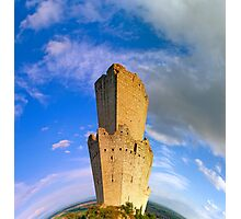 Majestic medieval castle ruins on the top of the hill, Ortenbourg, Alsace, France Photographic Print