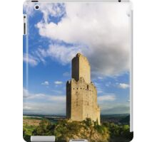 Majestic medieval castle ruins on the top of the hill, Ortenbourg, Alsace, France iPad Case/Skin