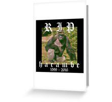 RIP HARAMBE Greeting Card