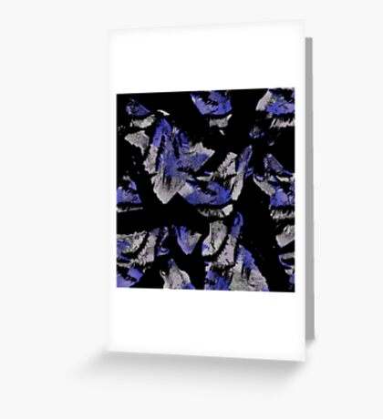 Blue Tiger Wolf Greeting Card