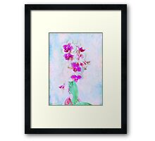 At Last Orchid Abstract Framed Print