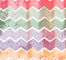 Corrugated Chevron Stripes - Gelati by daisy-beatrice