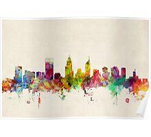 Perth Australia Skyline Poster