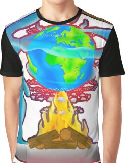 Wold on Fire Graphic T-Shirt