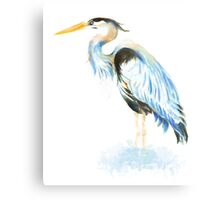Great Blue Heron Watercolor Bird Art Metal Print