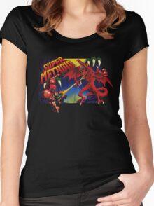 Super Metroid Box Art Women's Fitted Scoop T-Shirt