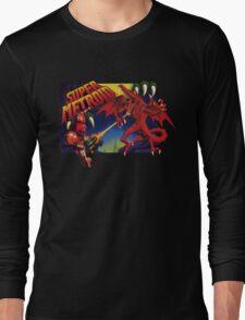 Super Metroid Box Art Long Sleeve T-Shirt