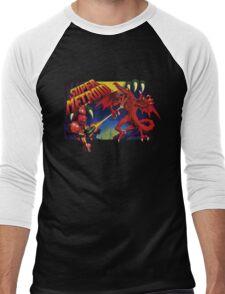 Super Metroid Box Art Men's Baseball ¾ T-Shirt