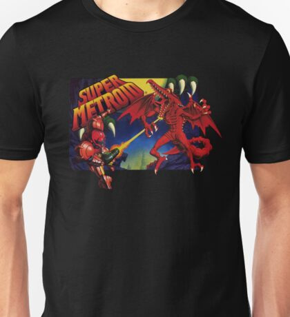 Super Metroid Box Art Unisex T-Shirt