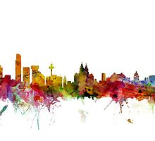 Liverpool England Skyline by Michael Tompsett