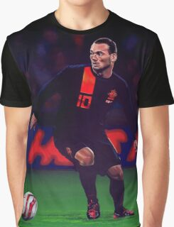 Wesley Sneijder painting Graphic T-Shirt