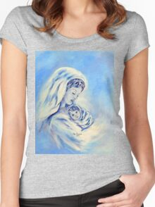 Madonna and Child Women's Fitted Scoop T-Shirt