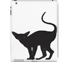 Creepy black halloween cat iPad Case/Skin