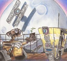 WALL-E & CL4P-TP by Jade Jones