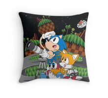 Sonic and Tails  Throw Pillow