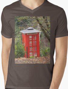The Big Red Phone Box Mens V-Neck T-Shirt
