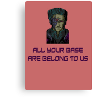 aybabtu all your base are belong to us t shirt Canvas Print