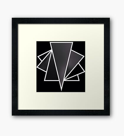 Triangle Graphic Art Framed Print