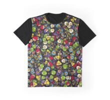Angry birds. Sticker Bombing Graphic T-Shirt