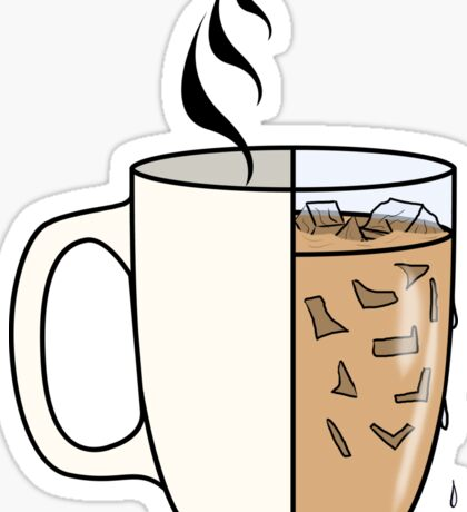 Hot Coffee | Iced Coffee Sticker