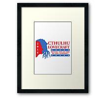 Vote for Cthulhu Framed Print