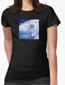 Pacific Waves II Womens Fitted T-Shirt