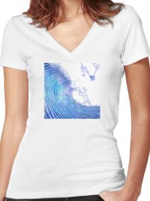 Pacific Waves III Women's Fitted V-Neck T-Shirt