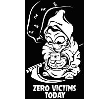 zero victims today grim reaper death are take vacation in summer Photographic Print