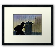 Homage to Alfred Hitchcock to Catch a Thief Framed Print