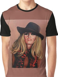 Brigitte Bardot Painting Graphic T-Shirt