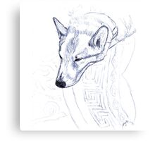 Tristan in Blue Canvas Print
