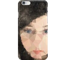 Woman's face,Polygonal art,abstract,modern,contemporary iPhone Case/Skin