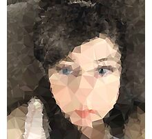 Woman's face,Polygonal art,abstract,modern,contemporary Photographic Print