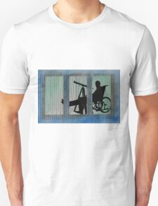 Homage to Alfred Hitchcock Rear Window Impression T-Shirt
