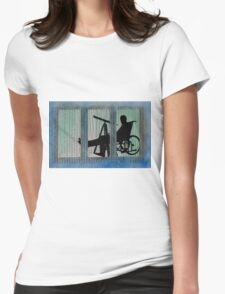 Homage to Alfred Hitchcock Rear Window Impression Womens Fitted T-Shirt