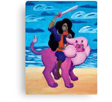 Stevonnie's fight Canvas Print